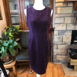 Calvin Klein size 8 sleeveless faux suede dress